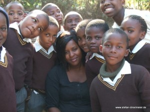 Teacher Ayanda and Sisonke students